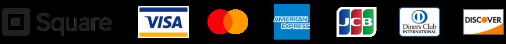 square:対応クレジットカードブランド