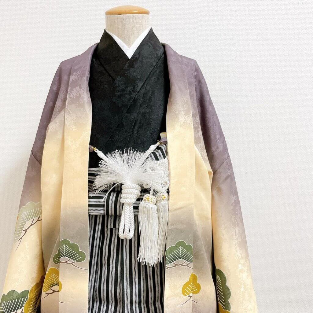 七五三 5歳男の子の着物着付け(袴)